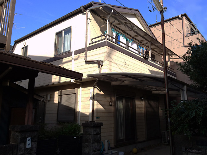 東京都葛飾区の外壁塗装・シール打ち替え工事の施工前