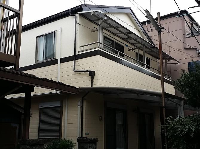 東京都葛飾区の外壁塗装・シール打ち替え工事の施工後