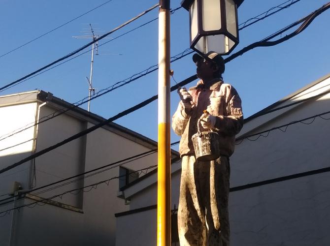 街路塗装の中塗り
