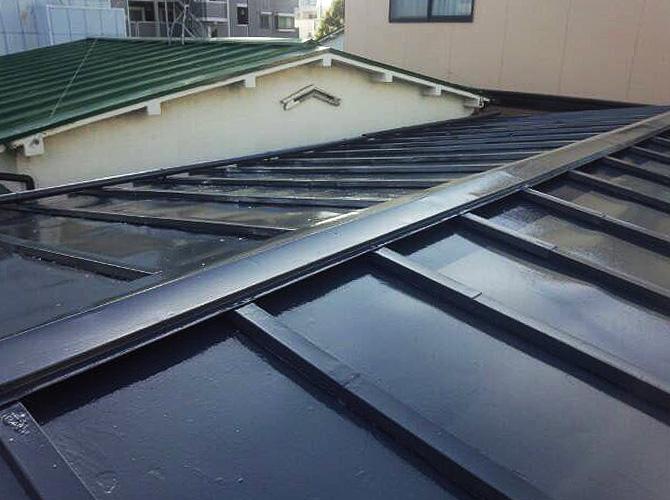 東京都大田区戸建住宅の屋根塗装工事の施工後