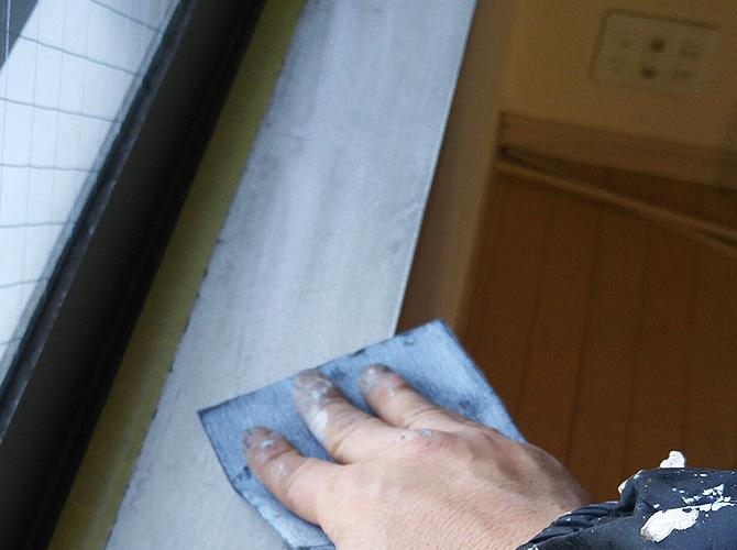 東京都世田谷区マンションの木部塗装工事の施工前