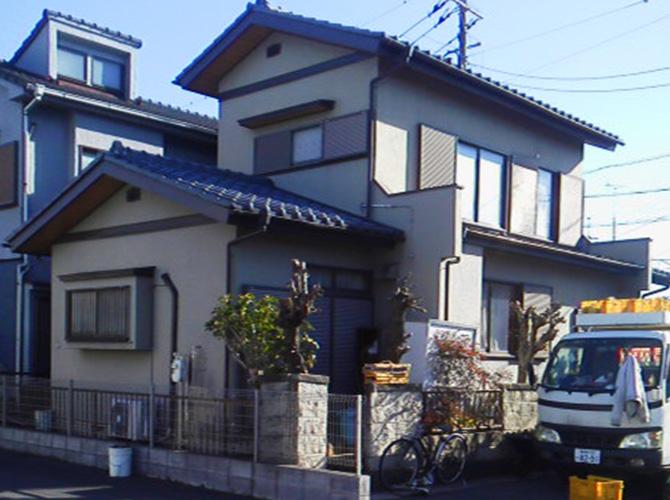 埼玉県越谷市の外壁塗装・屋根塗装工事の施工前