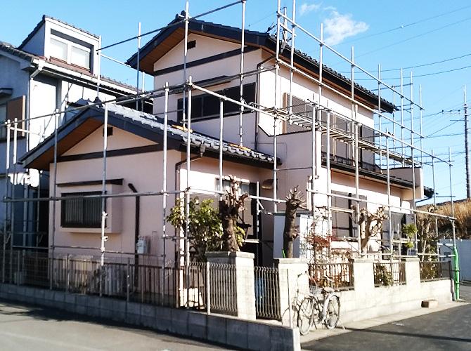 埼玉県越谷市の外壁塗装・屋根塗装工事の施工後