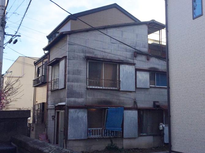 東京都足立区千住仲町の外壁塗装・屋根塗装工事の施工前