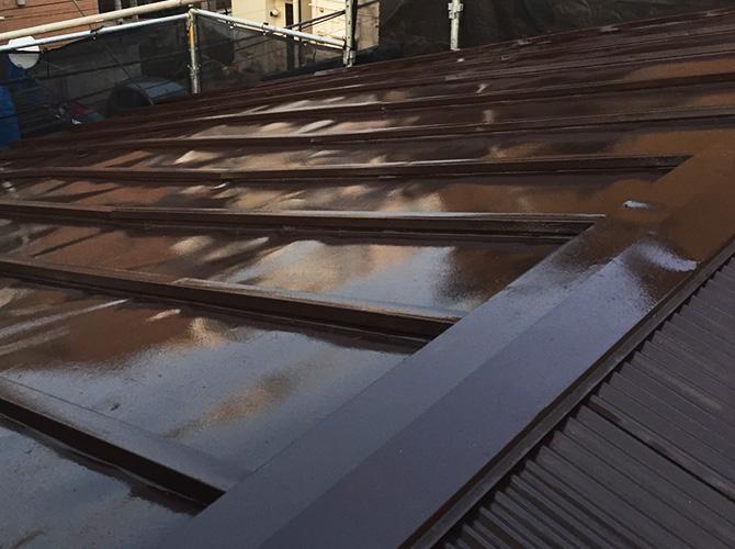 屋根塗装の完了後