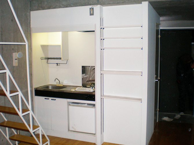 アパート内装塗装の施工後の状態です。