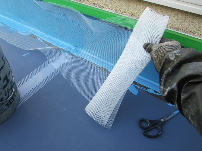 メッシュ・防水材の塗布