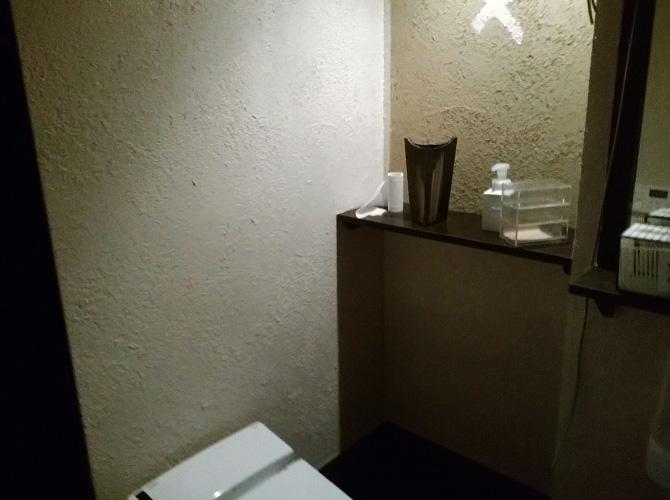 トイレ内塗装完了後