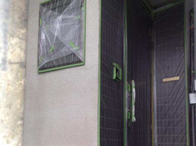 養生の施工が塗装工事では重要です。