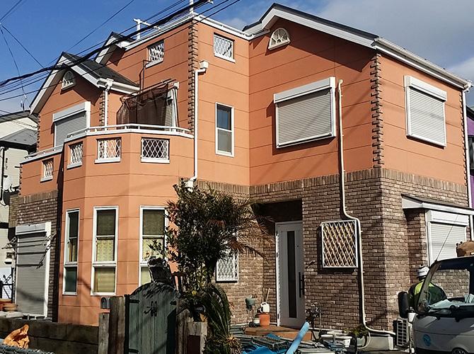 神奈川県横須賀市の外壁塗装・屋根塗装工事の施工前