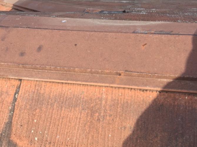 屋根板金の施工前