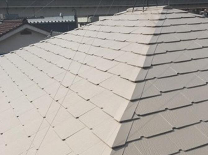 サーモアイSiを使って仕上げた屋根塗装の完了後
