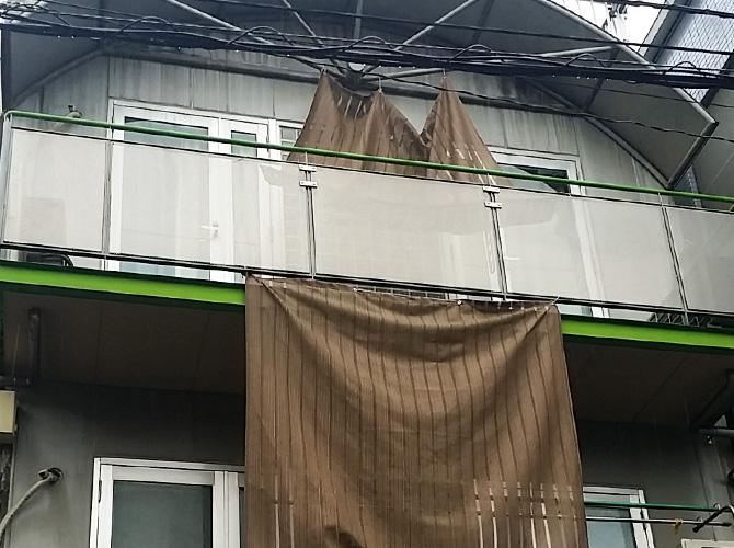 東京都江東区の外壁塗装・付帯部塗装工事の施工前