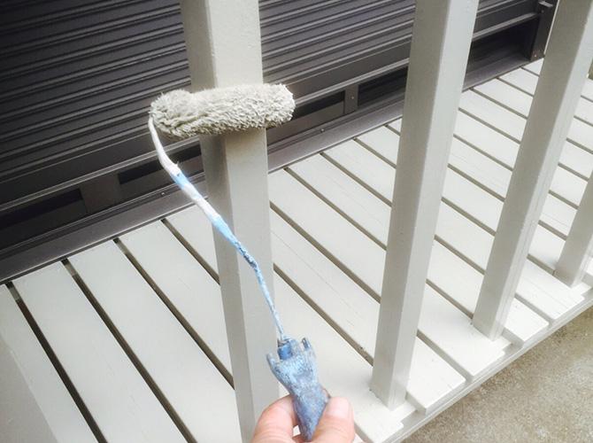 東京都目黒区戸建住宅のウッドデッキ塗装工事の施工後