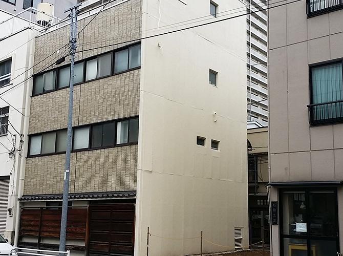 東京都中央区の外壁一面塗装工事の施工後