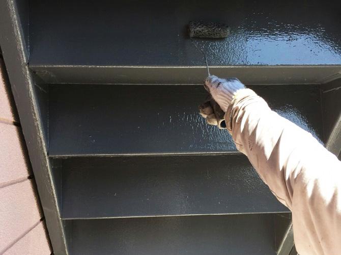 階段の上塗り