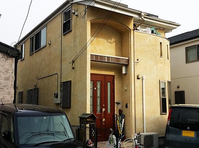 神奈川県小田原市の外壁塗装・屋根塗装工事の施工前