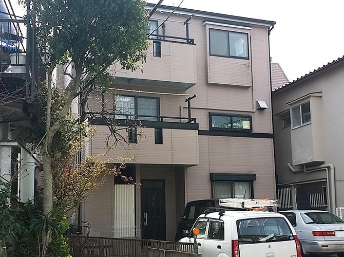 東京都足立区興野の外壁塗装・屋根塗装工事の施工前