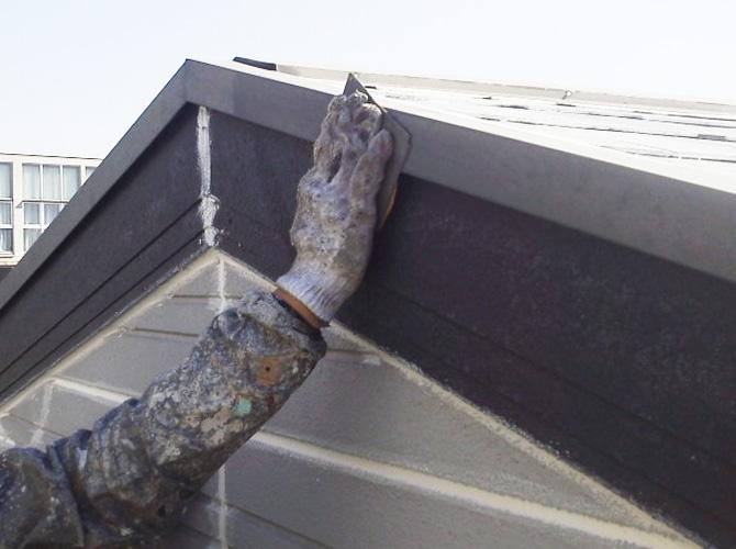 屋根板金のケレン