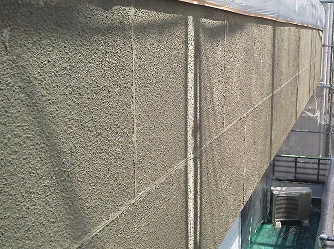 セメントフィラー塗装後
