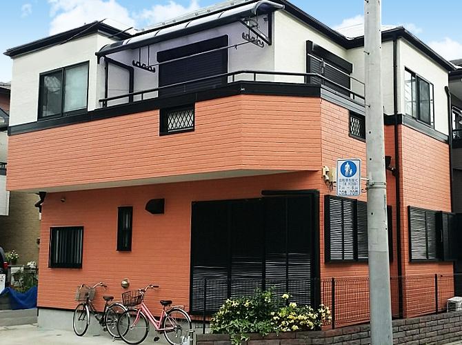 東京都足立区梅島の外壁塗装・屋根塗装工事の施工後
