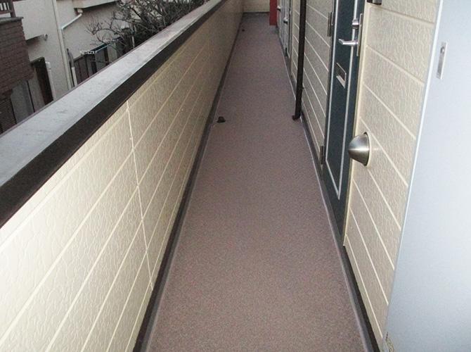 外廊下の完了後