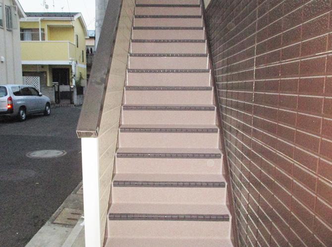 外階段の完了後