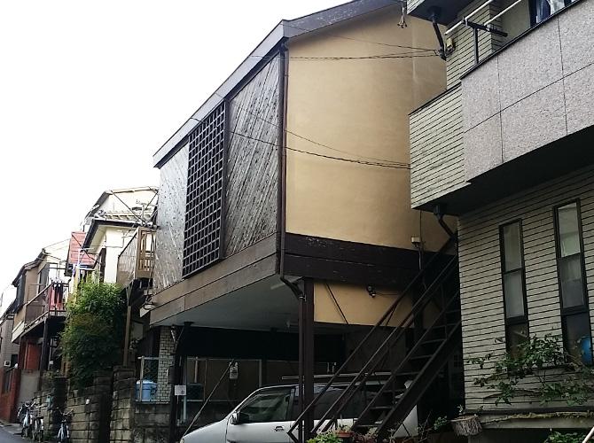 東京都渋谷区の外壁塗装・屋根塗装工事の施工前