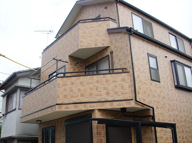 埼玉県越谷市のUVプロテクトクリヤーの外壁塗装施工事例