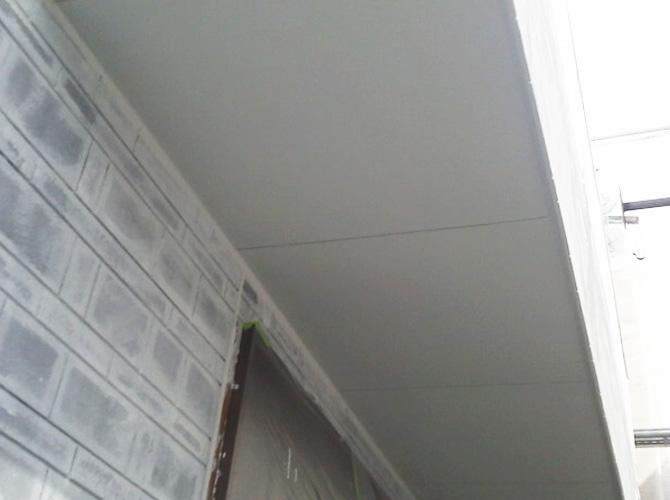 軒天塗装の完了後