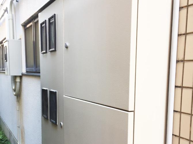 神奈川県横浜市商業ビルの鉄部サビ止め塗装工事の施工後