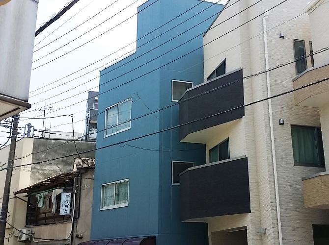 東京都台東区の外壁塗装工事の施工後