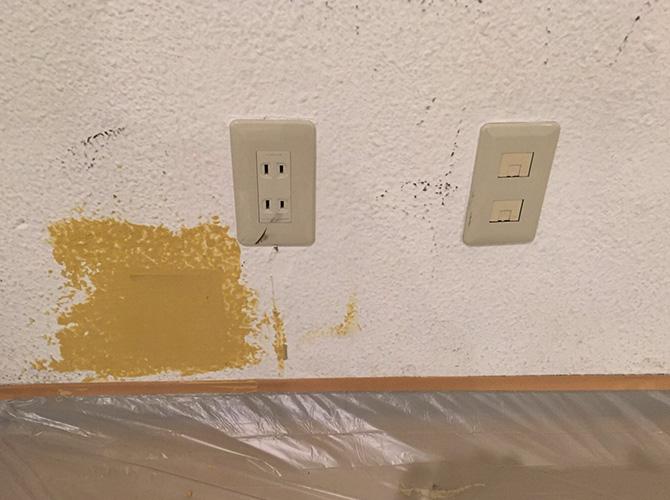 東京都新宿区テナントの内装塗装工事の施工前