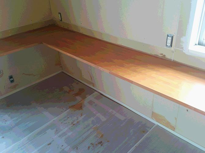 木部塗装の完了後