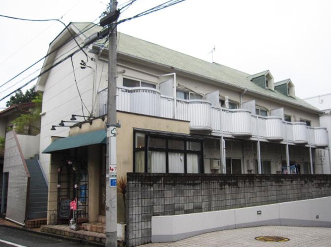 東京都世田谷区アパートの外壁塗装・屋根塗装工事の施工前