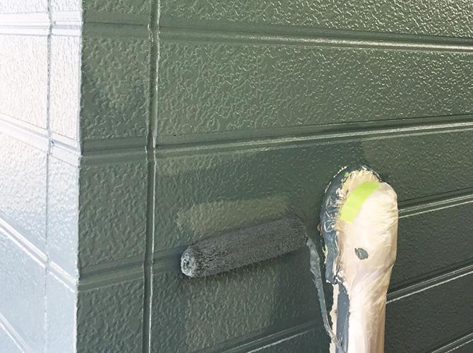 外壁塗装の上塗り