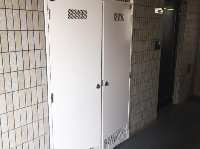 千葉県柏市マンションの鉄部サビ止め塗装工事の施工後