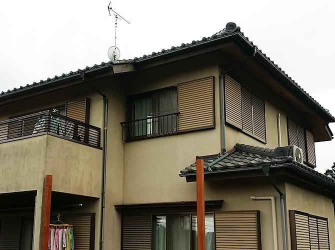 千葉県八街市の外壁塗装・瓦屋根補修工事の施工前