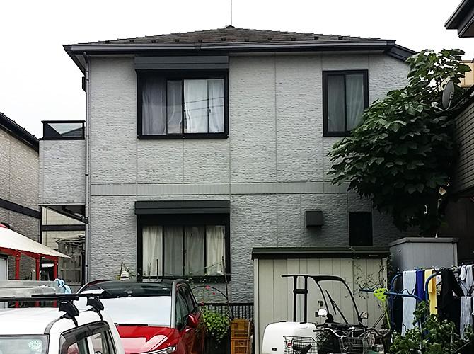 東京都葛飾区の外壁塗装・屋根塗装工事の施工前