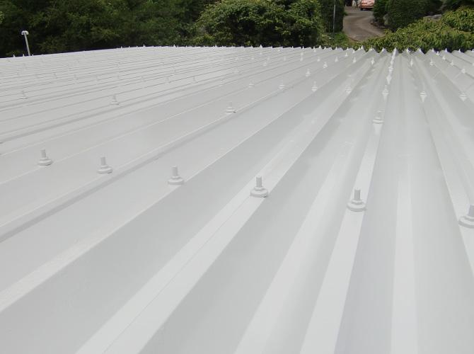 神奈川県横浜市幼稚園の折板屋根塗装工事の施工後