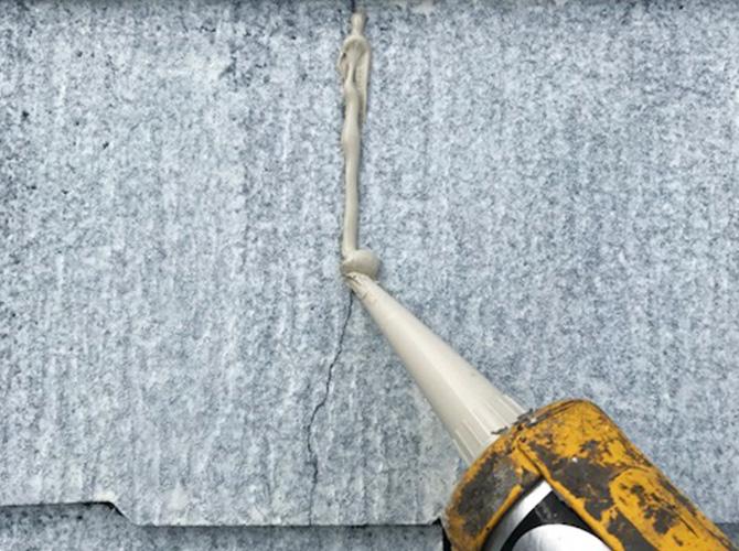 屋根のひび割れ修理