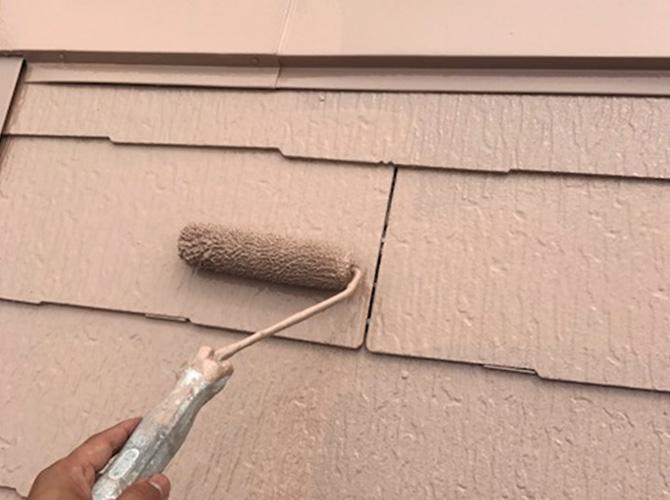屋根塗装の上塗り