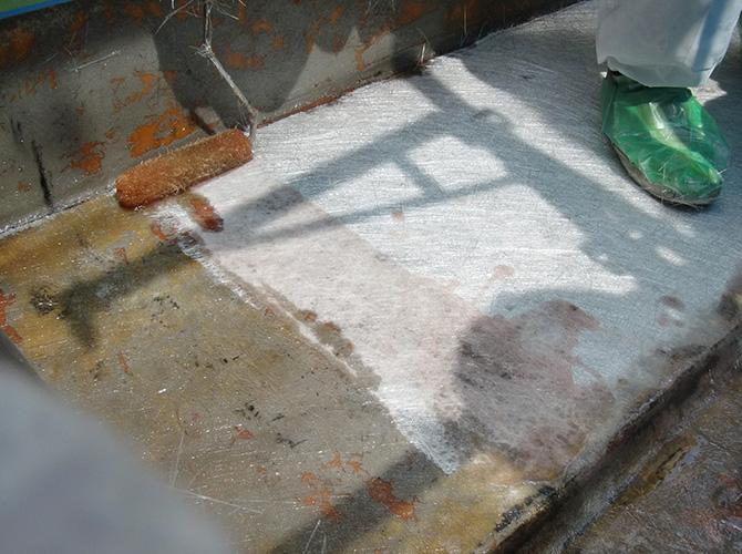 FRP防水の一層目