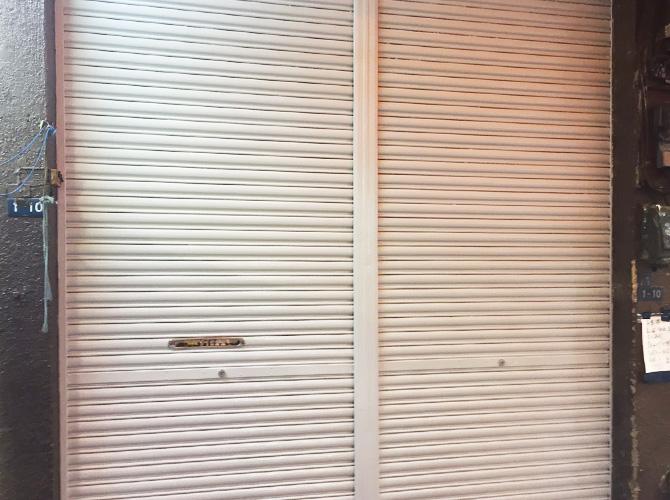 東京都台東区ビル鉄部のサビ止め塗装工事の施工後