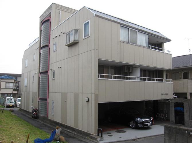 東京都葛飾区マンションの外壁塗装・シール工事の施工前