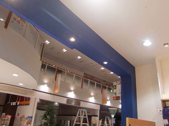 千葉市店舗のファサードなど内部塗装工事の施工後