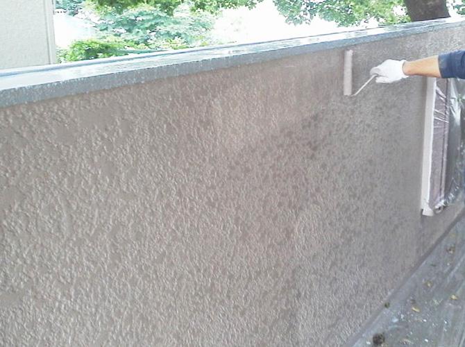 擁壁の上塗り