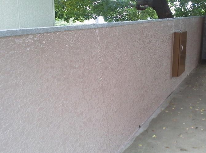 東京都北区住宅のブロック塀・擁壁の洗浄・塗装工事の施工後