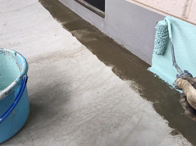 巾木の防水処理