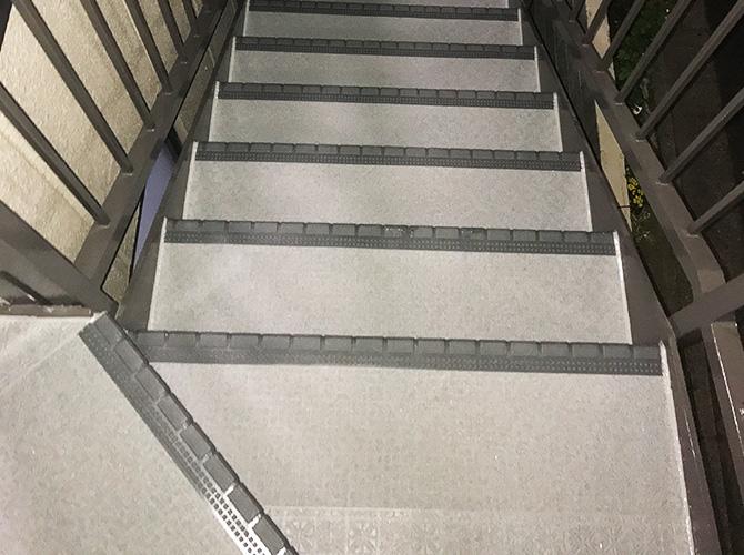 階段の施工完了